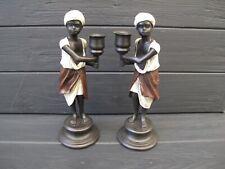 CANDLESTICK 2pcs arab boys    Statue  bronze austrian stile
