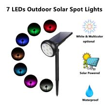 7 LED Solar Panel RGB White Flood Spot Light Garden Yard Lawn Lamp Waterproof
