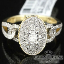 LADIES 10K YELLOW GOLD .31CT SOLITAIRE GENUINE REAL DIAMOND ENGAGEMENT RING BAND