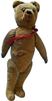 Ancien Ours en peluche Vintage vers 1900 rare jouet old toy à restaurer France