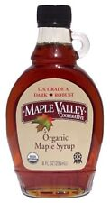 Maple Valley 8 oz Organic Maple Syrup - Grade A Dark & Robust in Flat Glass