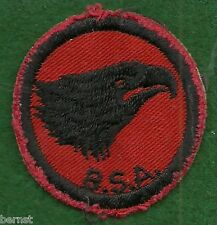 VINTAGE  BOY SCOUT PATROL RED & BLACK PATCH - EAGLE - FREE SHIPPING