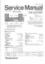 Technics Service Manual für RS-CA 1060