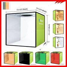 PULUZ Photography Photo Soft Box LED Light Tent Cube 6 Backdrops Studio Lighting