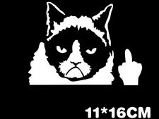 Funny Grumpy Cat For JDM Auto Car/Bumper/Window Vinyl Decal Sticker Decal Sale