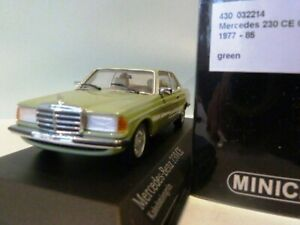 WOW EXTREMELY RARE Mercedes W123 230CE Coupe L.Green 1:43 Minichamps-200/300/450