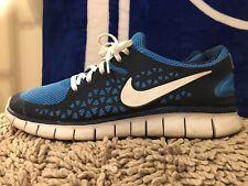 Nike Free Run +, 395912-400, Blue White Starlight, Men's Running Shoes, Size 13