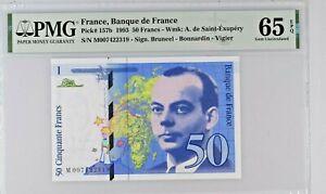 FRANCE 50 FRANCS 1993 PICK 157 b PMG 65EPQ GEM UNC