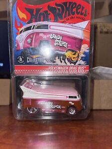 Hot Wheels 2021 RLC PINK CANDY STRIPER VOLKSWAGEN DRAG BUS #8426 of 20000 NEW