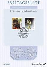RFA 2016: Schätze de allemand Musées! Enveloppe premier jour de N° 3227+3228! 1A