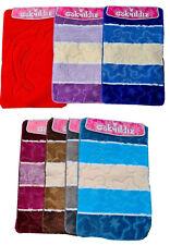 BADGARNITUR 3 teilig, Badezimmer-Matte 80 x 50 cm in verschiedenen Farben
