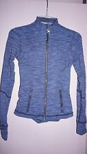 Lululemon Define Jacket Size 2 Space Dye Striped Blue Womens
