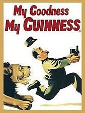 Guinness Lion steel fridge magnet   (sg)  REDUCED TO CLEAR