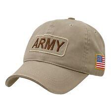 TAN UNITED STATES ARMY BASEBALL CAP CAPS HAT US FLAG