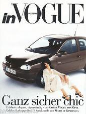 OPEL CORSA B VOGUE Maglia Moda di Maria di Ripabianca prospetto 90er J. AUTO AUTOMOBILI