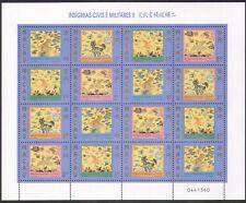 Macau 1998 Military Insignia/Pheasant/Lion/Bear/Birds/Cats/Nature 16v sht n39094