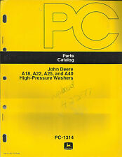 JOHN DEERE A18,A22,A25, AND A40 HIGH-PRESSURE WASHERS PARTS CATALOG