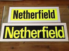 Nottingham Bus Blind / Retro Picture - Netherfield