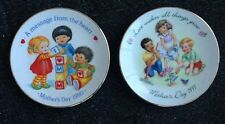 2 Avon Collectible Mother's Day Plates 1990 & 1991 Love Makes All Things Grow