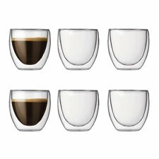 Bodum Pavina Gläser-Set Doppelwandig 6-teiliges Espresso Bodum Heisse Kalte NEU