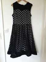 Missmay Polka Dot Mesh Stiff Hemline Flare Retro Dress Size XL 16 18