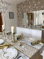 Christmas Table Runner Gold Snowflake Best Luxury Paper Tablecloths Placemat