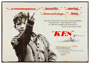 """Reproduction """"Kes"""", Movie Poster, Classics, Home wall Art, Size: A2"""