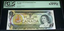 ASTERISK REPLACEMENT 1973 $1 PCGS 63 PPQ  *FV - BANK OF CANADA
