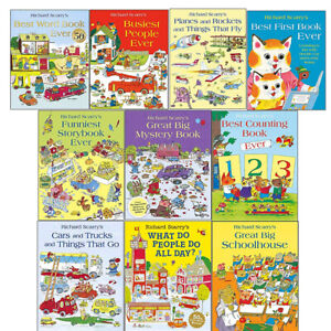 Richard Scarry'S 10 Pictures Books Children Collection Paperback Gift Pack Set