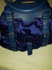 Botkier cobalt blue satin leather trim buckle satchel hobo/handbag.