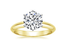 2.25 Ct Round Solitaire Engagement Wedding Promise Ring Solid 14K Yellow Gold
