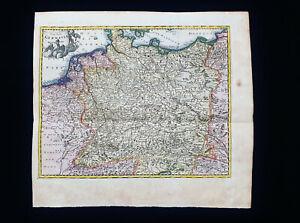 1710 CLUVERIUS: Germany, North Europe, Deutschland, Austria, Saxony, Dresden...