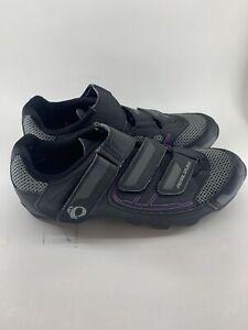 Pearl Izumi All Road III Black/Purple Cycling Shoes w/Cleats Womens EU41