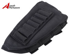 Airsoft Tactical Military Rifle Shotgun Ammo Stock Pouch Holder Left Hand Black