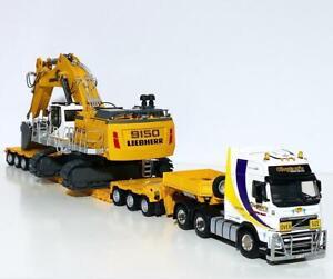 Volvo FH3 lowloader+Liebherr R9150B excavator as a load,WSI truck models