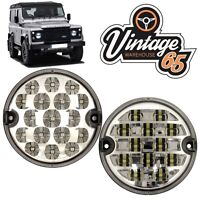 Land Rover Defender 95mm LED Clear Rear Fog Lamp Reversing Light Upgrade Kit