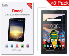 """3X Dooqi HD Clear LCD Screen Protector Shield Cover Guard For Lenovo TAB3 8 (8"""")"""