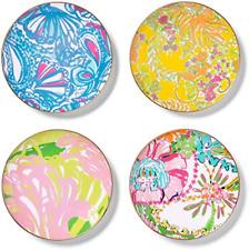 Lilly Pulitzer for Target Porcelain Plates with 18kt Gold Rim - Set of 4