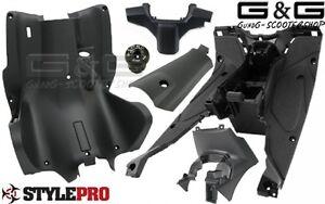 Kompletter Innenraum Verkleidung 6 Teilig Schwarz für Yamaha Aerox MBK Nitro