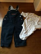 Gymboree 18-24 Month Fire Engine Overalls Plus Old Navy Wild Aboit Daddy Shirt
