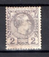 Monaco 1885 2c dull lilac mint MH SG#2 WS15449