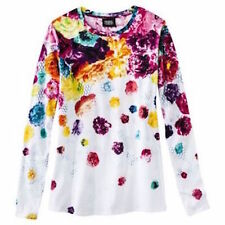 NEW! Prabal Gurung For Target Long-Sleeve Tee T-shirt Floral Crush Print S M & L