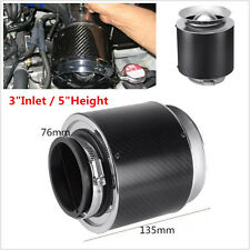 "Universal 3"" Inlet Carbon Fiber Hi-Flow Air Filter For Cold Air/Short Ram Intake"