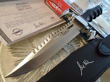 Gil Hibben Autographed Limited MKV Fighter Combat Knife GH5051A Leather Micarta
