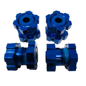 Traxxas Blue - Anodized Aluminium 17mm Splined Wheel Hubs and Hex Nuts 5353X