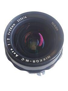 Nikon Nikkor N.C Auto 28mm f2 non AI MF Wide Angle Lens  Japan #586