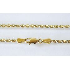 "14K Solid Yellow Gold Rope Chain 4.1 Grams W: 1.5 mm Length: 20"" (50 CM)-30"