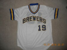 7adb65e2fdb Milwaukee Brewers Baseball Jersey SGA  19 Robin Yount Home White 1980s  Style Man