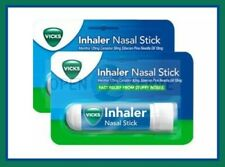 2x Vicks Inhaler Nasal Stick - Fast Relief From Stuffy Noses - Menthol Camphor