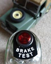 Land Rover Serie 2 2a 3 Rojo Iluminado LED Luz de Etiqueta de advertencia de ensayo de frenos Cromo